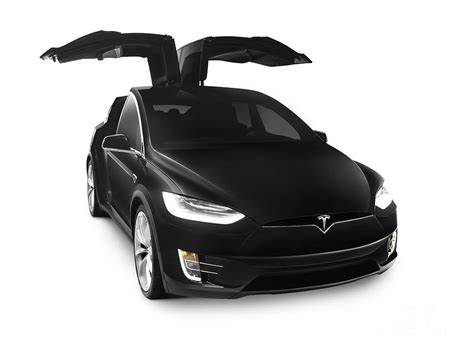 Black 2017 Tesla Model X Luxury Suv Electric Car Falcon