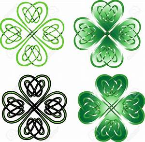 Celtic Knot clipart four leaf clover - Pencil and in color ...