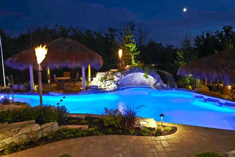 pools  water features outdoor lighting  chicago il
