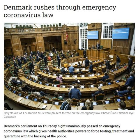 You must realize we are the largest forecasting firm in the world. Denmark Also Passes Emergency COVID Law Coordinated with ...