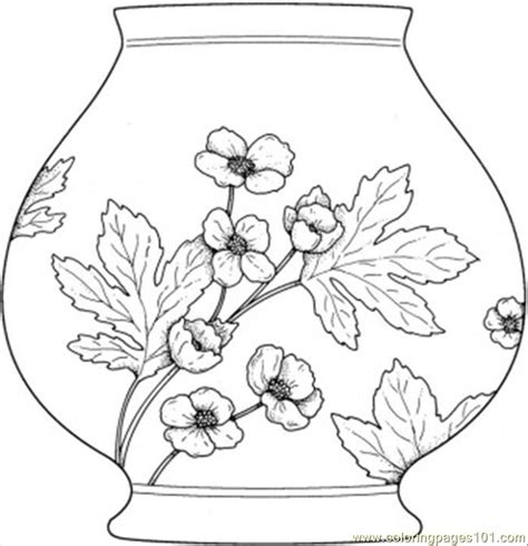 coloring pages vase  decorations  printable