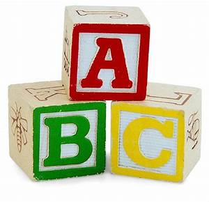 abcs for play playgroundology With letters block