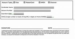 Credit Card Order Form Template Download One 1 Time Credit Card Authorization Payment