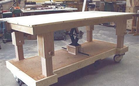 height adjustable workbench bench ideas