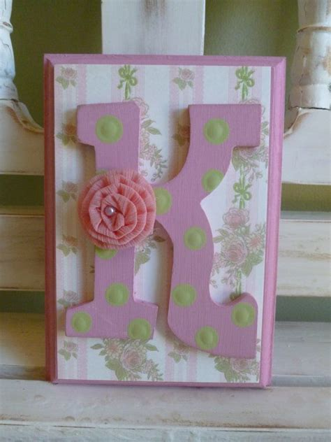 shabby chic wall letters shabby chic custom initial wall letters monogram name personalized child girl room vintage