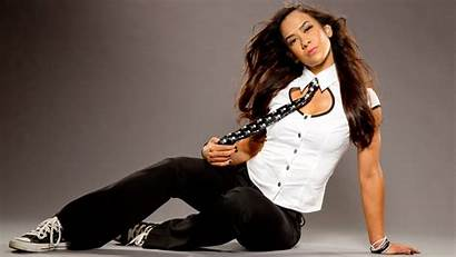 Aj Lee Wwe Wrestling Diva Shoot Posed