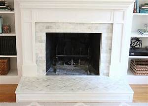 How, To, Tile, Over, A, Brick, Fireplace, Surround