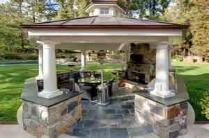 kitchen island with columns stunning outdoor spaces and cooling covered patios