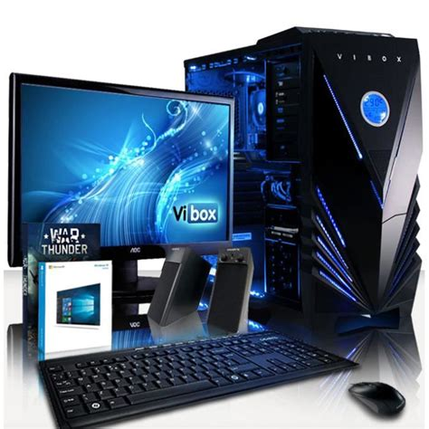ordinateur de bureau avec ecran vibox ultra pack 9 pc gamer amd 4 r7 240 gaming ordinateur de bureau avec 8 go ram