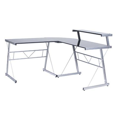 bureau angle verre bureau d 39 angle en verre noir bureau informatique design