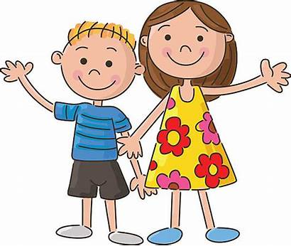 Brother Vector Cartoon Clip Illustrations Holding Hand