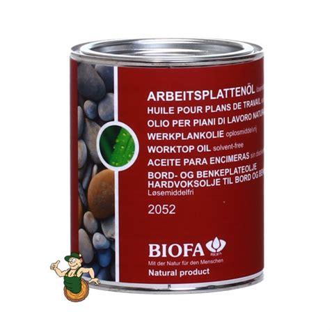 Arbeitsplattenöl, Lösemittelfrei  Biofa Versand