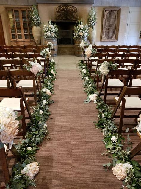 Sonoma Wedding Ramekins Indoor Wedding Aisle Floral