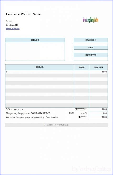 freelance translation invoice template templates