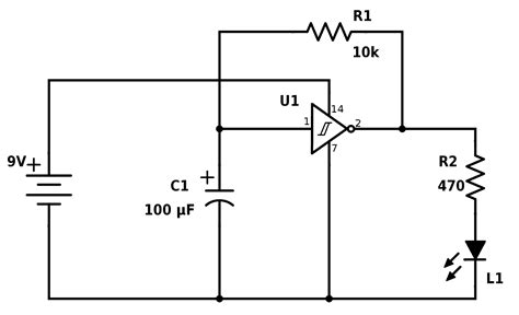 Circuit Diagram And Explanation by Blinking Led Circuit With Schematics And Explanation