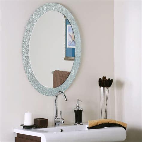 Decor Wonderland Ssm50054 Molten Oval Bathroom Mirror