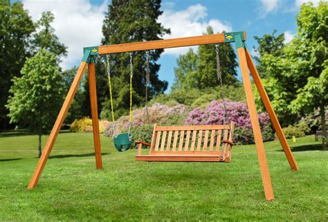 classic cedar bench swing eastern jungle gym