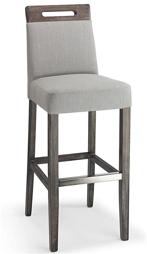 modomi grey fabric seat kitchen breakfast bar stool wooden frame fully assembled