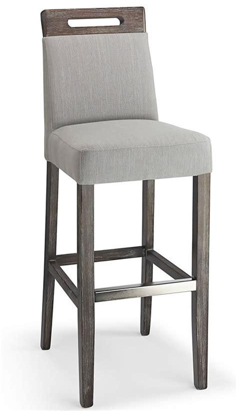 Modomi grey fabric seat kitchen breakfast bar stool wooden