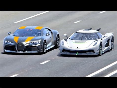 Back to the day, the veyron was highly which one do you prefer better: Koenigsegg Jesko Absolut vs Bugatti Chiron Super Sport 300+ - Drag Race 20 KM - YouTube
