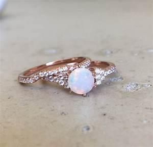 opal bridal set ring promise ring ring engagement and With promise engagement and wedding ring set