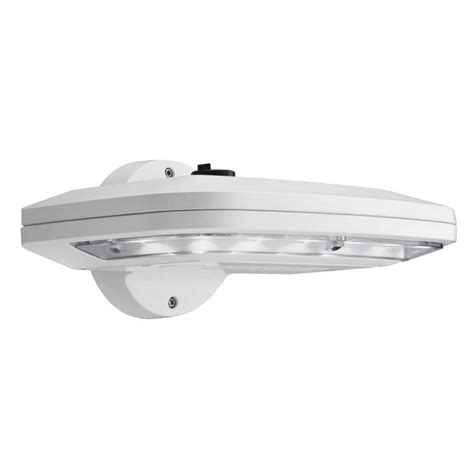 lithonia lighting white outdoor integrated led wall pack