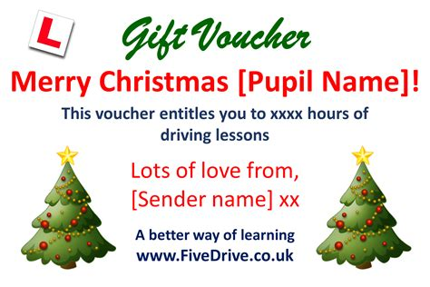 gift voucher template christmas fivedrive