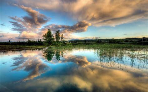 lake, Clouds, Sky Wallpapers HD / Desktop and Mobile ...