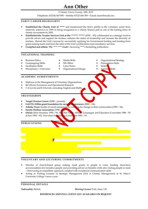 general resume profile statement exles order custom essay exle of a cv personal
