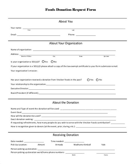 10 sle donation request forms pdf word
