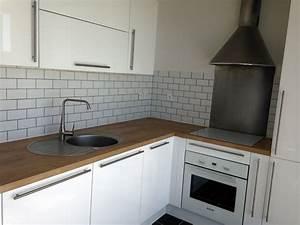 credence cuisine inox a coller maison design bahbecom With credence cuisine a coller
