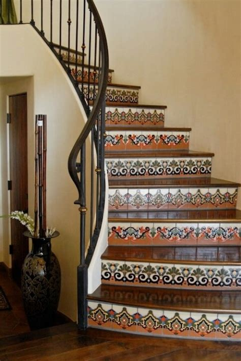 mexican tile stairs iron rod instead of wood to loft