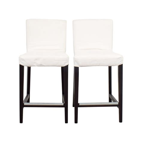 chaise bar but ikea henriksdal white covered bar stools stools with