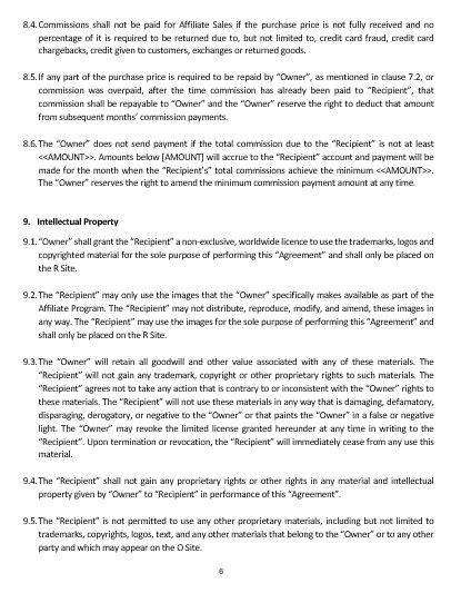 affiliate contract template ne0160 affiliate agreement template namozaj
