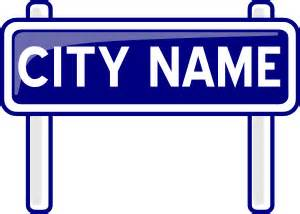 Road construction signs vector ai file. City Name Plate Road Sign Post clip art (106711) Free SVG ...