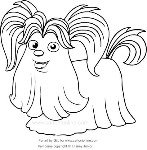 disegno del cane wolfie  vampirina da colorare