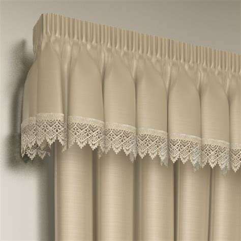 Lined Lace Embroidered Pelmet Valance   Tony's Textiles