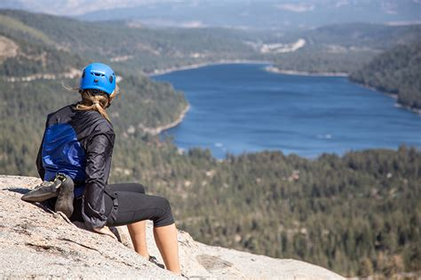 Intro Outdoor Rock Climbing Lake Tahoe Donner