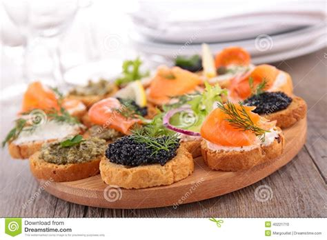 canapé cuisine canape buffet food stock photo image of catering