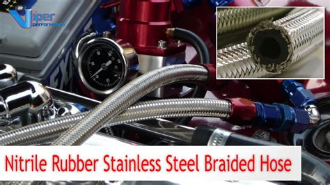 Nitrile Rubber Stainless Steel Braided Fuel Hose