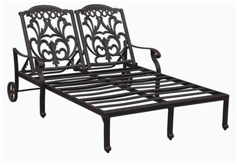 patio furniture cast aluminum chaise lounge valencia