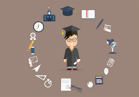 ilustrasi latar belakang pendidikan  sarjana