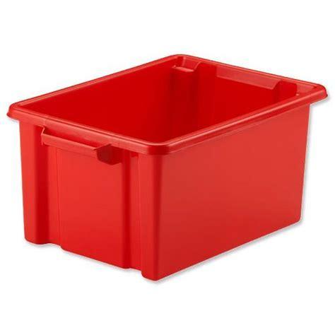 Shelf Tidy Plastic Storage Box Red 7L