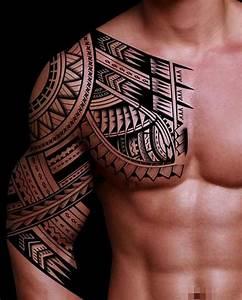 Tatouage Demi Bras Homme : tatouage tribal pectoral epaule et bras pour homme tatoo tatouage tatouage tribal epaule et ~ Melissatoandfro.com Idées de Décoration
