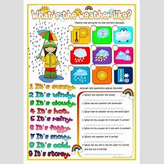 What's The Weather Like? Worksheet  Free Esl Printable Worksheets Made By Teachers