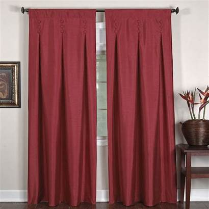 Inverted Pleat Drapes Curtain Window Side Painting