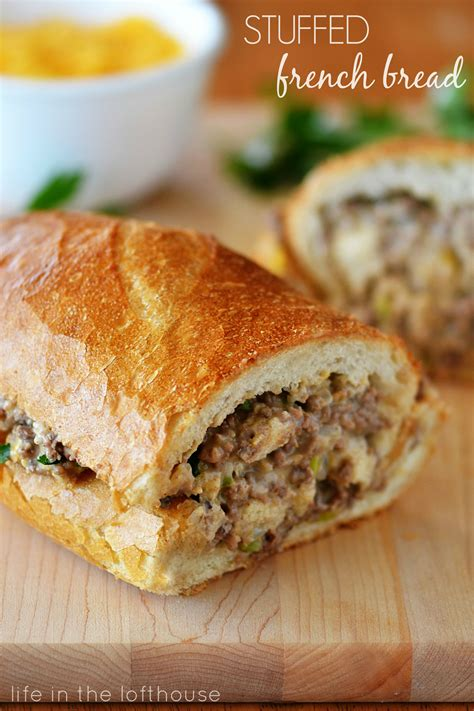 things to do with burgers for dinner stuffed bread