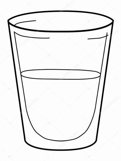 Glass Water Vector Agua Vaso Colorear Para