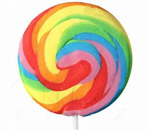 Swirl Spiral Lollipop Rainbow Large Single