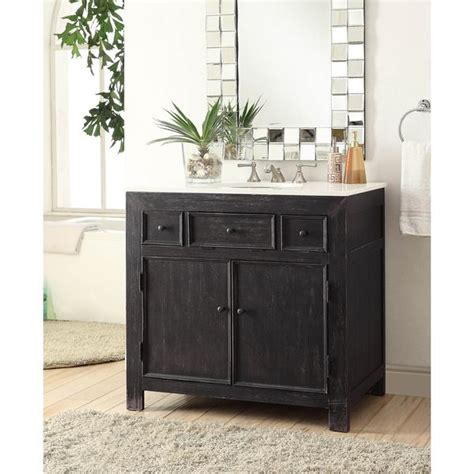 black narrow leg  drawer vanity